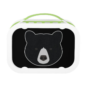 Lunch Box Visage d'ours noir