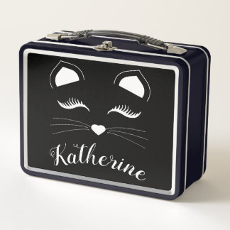 Lunch Box Visage noir et blanc de chat