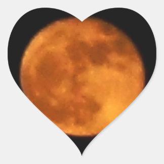 Lune 2016 de sang sticker cœur