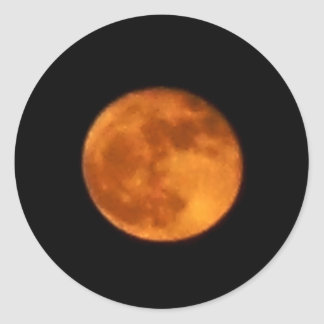 Lune 2016 de sang sticker rond