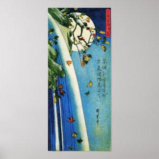 Lune au-dessus des beaux-arts de Japonais de Poster