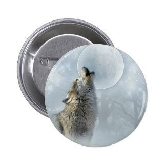 Lune bleue de loup badges