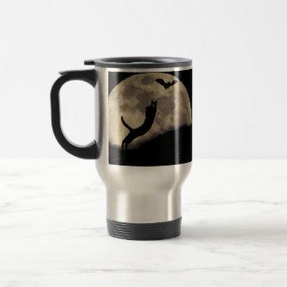Lune de batte de chat mug de voyage