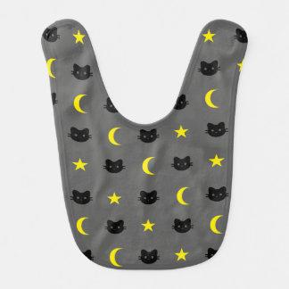 Lune de chat de Kitty et bavoir de bébé d'étoiles