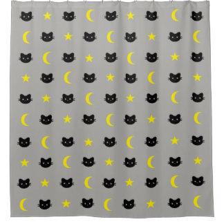 Lune de chat de Kitty et rideau en douche