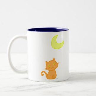 Lune de chat mug bicolore