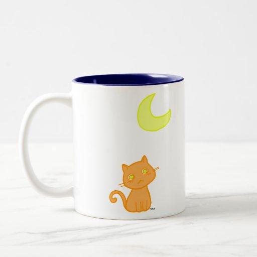 Lune de chat tasse à café