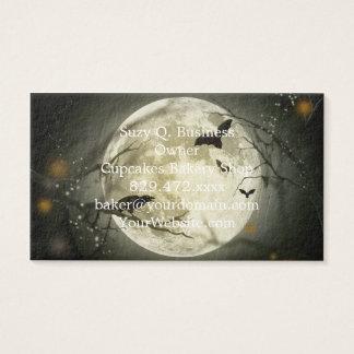 Lune de Halloween - illustration de pleine lune Cartes De Visite