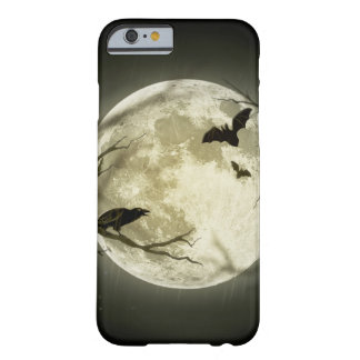 Lune de Halloween - illustration de pleine lune Coque Barely There iPhone 6