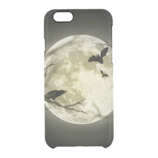 Lune de Halloween - illustration de pleine lune Coque iPhone 6/6S