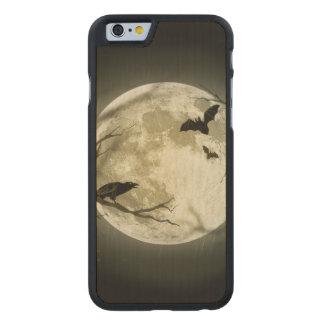 Lune de Halloween - illustration de pleine lune Coque Mince En Érable iPhone 6