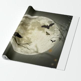 Lune de Halloween - illustration de pleine lune Papier Cadeau