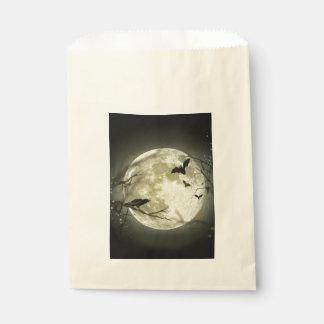 Lune de Halloween - illustration de pleine lune Sachets En Papier