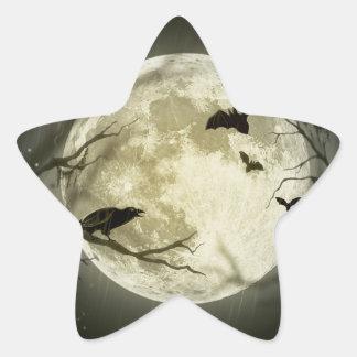 Lune de Halloween - illustration de pleine lune Sticker Étoile