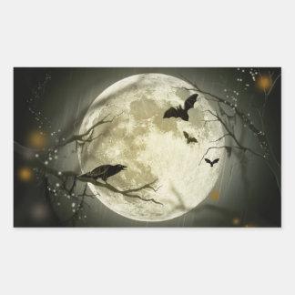 Lune de Halloween - illustration de pleine lune Sticker Rectangulaire