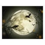 Lune de Halloween Prospectus Avec Motif
