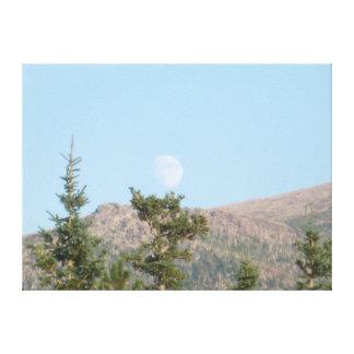 Lune de jour toile