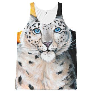Lune de léopard de neige débardeur tout-imprimé
