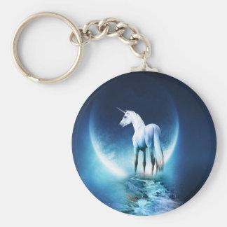 Lune de licorne porte-clé rond