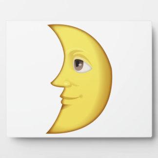 Lune de premier trimestre avec le visage - Emoji Plaque Photo