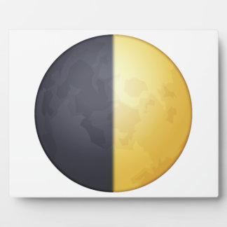 Lune de premier trimestre - Emoji Plaque Photo