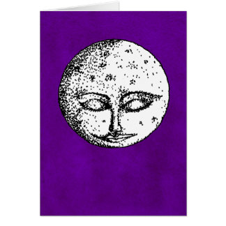 Lune de sommeil sur la carte violette intense