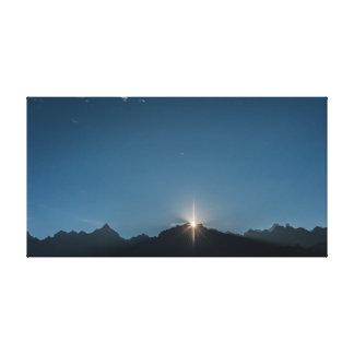 Lune du ciel | des montagnes | toiles