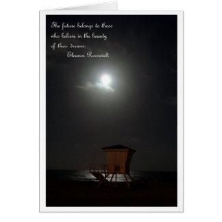 lune et cabane et carte de citation