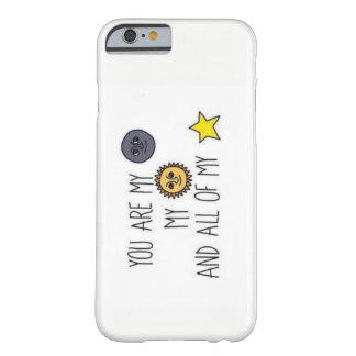 Lune et cas d'Iphone 6/6s de citation d'étoiles Coque Barely There iPhone 6