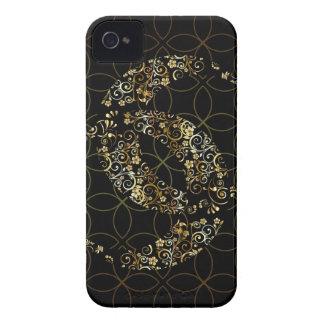 Lune et étoile florales islamiques coque Case-Mate iPhone 4