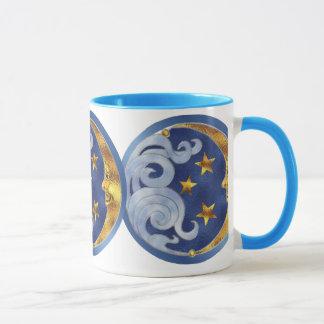 Lune et étoiles célestes mug