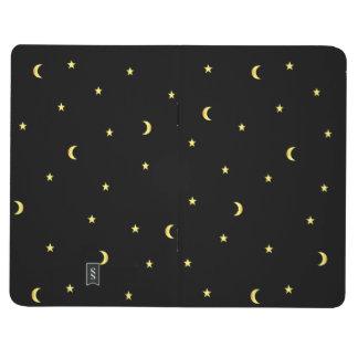 Lune et étoiles d'or carnet de poche