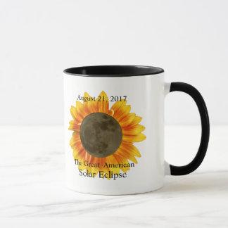 Lune et tournesol de l'éclipse 2017 solaire mug
