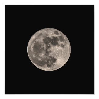 Lune image superbe d'impression de photo en