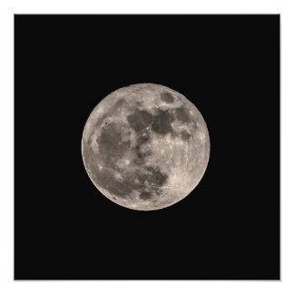 Lune image superbe d'impression de photo en