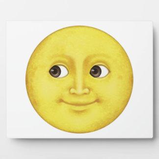 Lune jaune - Emoji Plaque Photo