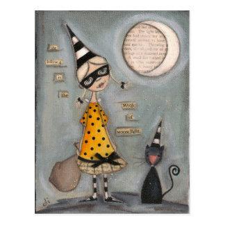 Lune magique - carte postale de vacances