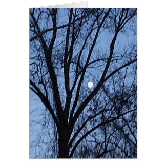 Lune presque pleine 2 carte de vœux