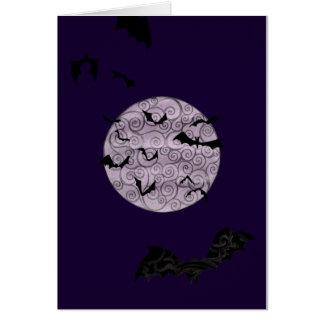 Lune timbrée - carte d'anniversaire
