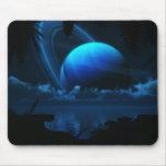 Lune tropicale Mousepad Tapis De Souris