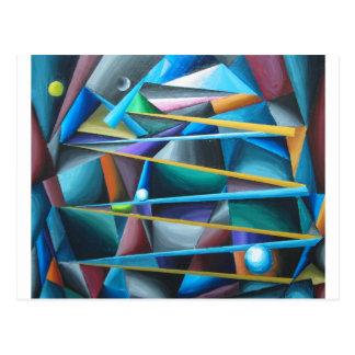Lunes déloyales (cubisme coloré) carte postale