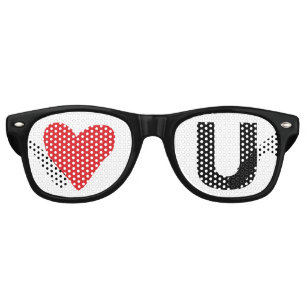 ec38cbdc12578f Lunettes De Fête Retro Coeur de rouge de l amour U d amusement