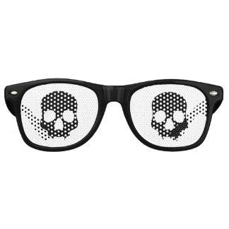 Lunettes De Fête Retro Crânes gothiques noirs
