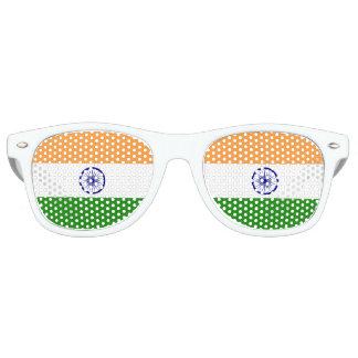 Lunettes De Fête Retro Drapeau de l'Inde