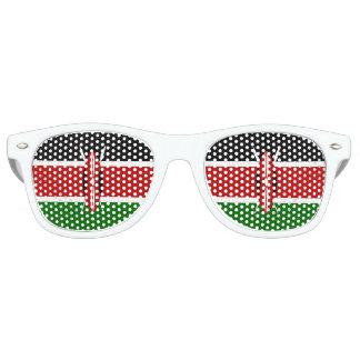 Lunettes De Fête Retro Drapeau du Kenya