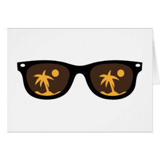 lunettes de soleil carte de vœux