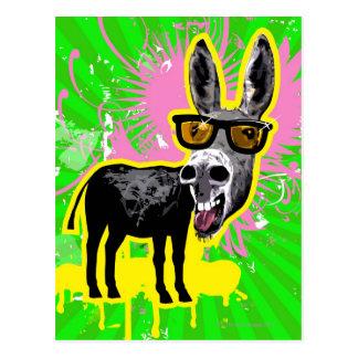 Lunettes de soleil de port d'âne carte postale