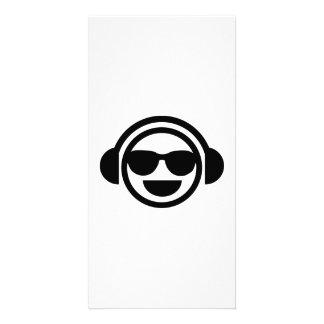 Lunettes de soleil de smiley du DJ Modèle Pour Photocarte