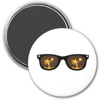 lunettes de soleil magnet rond 7,50 cm