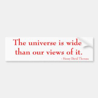 L'univers est plus large que nos vues de lui autocollant de voiture